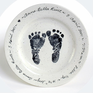 Babies kids imprints at the blue door personalized newborn birth plate keepsale new baby shower gift includes name birth date time weight length hand written in cursive negle Gallery